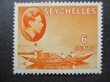 Seychelles 1938 6c Orange. SG 137. MM.