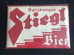 New Metal Stiegl Salzburger Bier Sign - in original wrapper