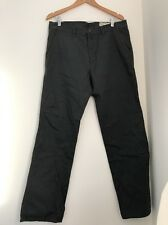 Primark Trousers 34w Regular Grey Straight Casual Denim And Co <JJ799