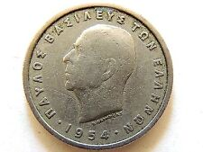 1954 Greek One (1) Drachma Coin