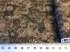 Forest Floral  BROWN quilters cotton Fabric per yd  by Studio
