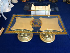 Couchtisch Glastisch Säulen griechische Barock Tische mäander Style 6022  k 50