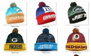 NFL Camouflage Light Up Printed Beanie Hat -Select- Team Below