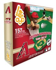 ARIZONA DIAMONDBACKS GAME TIME FIELD SET 10 FIGURES 157 PCS & TRAINER CART OYO