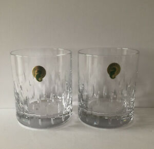 WATERFORD CRYSTAL PAIR OF BARWARE ROCKS DOUBLE OLD FASHIONED GLASSES-NEW