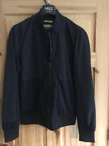 Zara Man Navy Bomber Jacket size medium