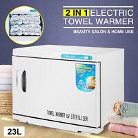Pro 2in1 UV Sterilizer 23L Hot Towel Warmer Cabinet Facial Skin Spa Beauty Salon