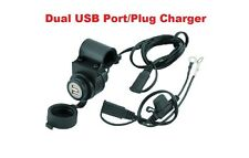 BikeMaster Dual Port USB Charger Handlebar Harley Davidson GPS MP3 Iphone Ipod