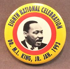 """1993 Martin Luther King Eighth National Celebration 2.25"""" pinback button"""