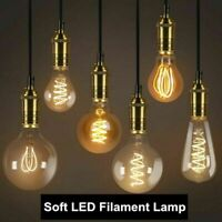 Dimmable E27 Rétro Vintage Flexible LED Edison Ampoule à filament en spirale