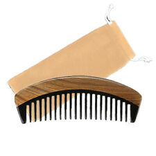 Pocket Hair Comb Ox Horn Wide Toothed Green Sandalwood  Hair Styling Comb Over