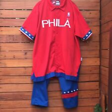 Nike PHILADELPHIA 76ers Throwback Warm Up (1966)Jersey Jacket (3XL) & Pants (XL)