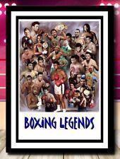 More details for (4) boxing legends ali tyson ect size a4 unframed/framed photograph (reprint) @@