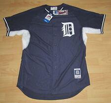 Authentic Detroit Tigers B.P. Navy Baseball Jersey Men's size 48 - RETAIL $115