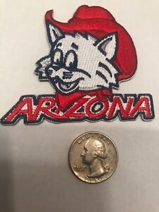 "Arizona Wildcats Vintage Embroidered Iron On Patch AWESOME 3"" X 2.5"" NCAA MINT"