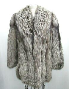 Jindo Saga Fox Fur Coat White/Brown (size 13)