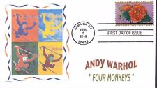 WARHOL  FOUR MONKEYS   LUNAR NEW YEAR OF THE MONKEY   FDC- DWc CACHET