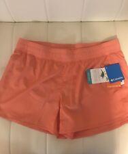 Columbia Women's sportswear santiam pass shorts omni-wick Orange Size Large