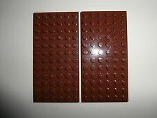 LEGO CASTLE / STAR WARS   2 Bauplatten 3028 braun 6x12 Noppen   NEUWARE