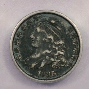 1835-P 1835 Capped Bust Dime 10c ICG VF25 Details