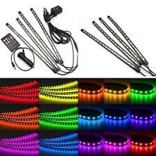 4x18LED Car RGB Strip Lights Interior Decoration Wireless Music Control 12V Lamp
