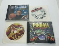 Vintage Windows 98 ME XP Game Lot Atari, Pinball, Monopoly & Sports Millionaire