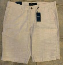 pd&c  Mens Size 36 Straight Fit Khaki Casual Shorts Flat Front PS9CVKHAA