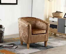 Tub Chair Armchair Solid Oak Frame Legs Modern Home Office Living Room Furniture