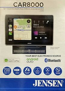 """NEW Jensen CAR8000 10.1"""" Large Touchscreen LCD w/ Apple Carplay, Android Auto"""