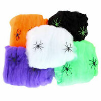 Halloween Spider Web Props Home Party Bar Decoration Stretchy Cobweb Spider w