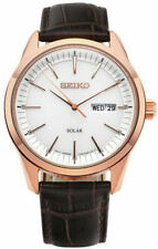 Seiko Gents Solar Gold Plated Watch SNE530P1