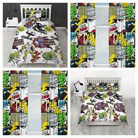 Official Marvel Heroes Character Bedding Single Double Duvet Set Curtains Boys