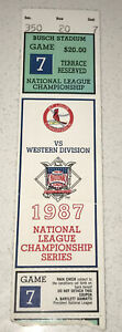 1987 SF Giants vs Cardinals MLB Playoffs NLCS Game 7 @ Busch Stadium Ticket Stub