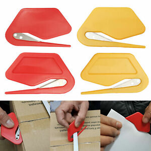 LETTER OPENER CUTTER OPEN OFFICE ENVELOPE KNIFE SAFE GUARDED SHARP BLADE PLASTIC