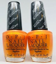 OPI Nail Polish ✨Totally Tangerine NL B41 Opaque Shimmery Orange Lacquer