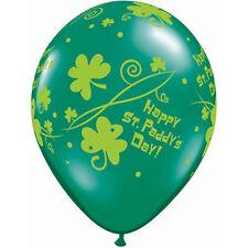 "ST PATRICK'S DAY PARTY SUPPLIES 10 x 11"" ST PADDY'S SHAMROCK SWIRLS BALLOONS"