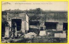 cpa SAINT PAUL TROIS CHÂTEAU (Drôme) CARRIÈRES de Pierre Blanche SAINTE JUSTE