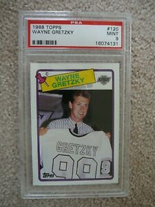 1988-89 Topps NHL Hockey card Wayne Gretzky #120 PSA 9 Mint Oilers Kings