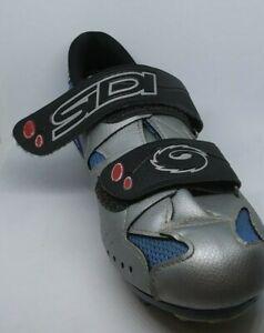SIDI Shoes Cycling Mountain Biking Women's Size 37 Silver & Blue