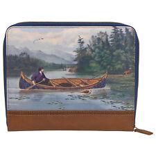 Ted Baker - Vintage Canoe Print Tablet Sleeve/Case with Brown Trim