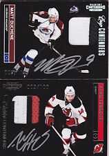 11-12 Playoff Contenders Adam Henrique /100 Auto PATCH Rookie Calder 3 Color