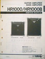 Yamaha HR1000 HR1000B Guitar / Bass Amplifiers Original Service Manual Booklet