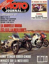 MOTO JOURNAL  939 Essai BMW K100 LT KAWASAKI GTR 1000 HONDA ST 1100 GSX-F SUZUKI