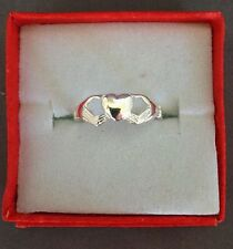 Claddagh heart shaped toe ring genuine .925 sterling silver