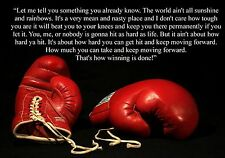 Rocky Boxing Inspirational Motivational Quote Poster Print Picture (1)