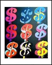 Andy Warhol Nine Dollar $9 Poster Art Imprimé Image dans le cadre alu noir 36x28cm