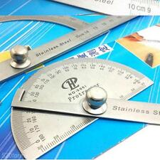 100mm Professional Protractor w. Arm Ruler DIY Measure Tool f. Radial Line Angle