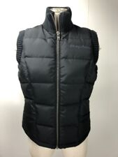 DKNY ACTIVE Womens Small Black Zip Front Sleeveless Puffer Vest