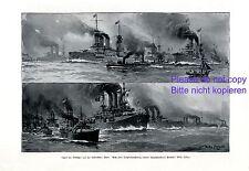 Types of Italy & Turkey fleed XL German art print 1911 by Willy Stöwer marine +