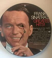 "Frank Sinatra Greatest hits Album Clock 11.5"" round battery operated"